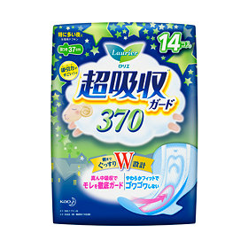 花王 ロリエ超吸収ガード370 羽つき 14個生理用ナプキン Sunday